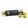 "Chocolate Tennis Balls in a 5 "" Plastic Tube with Metal Cap"