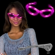 Pink Light Up Glow Flashing LED Glasses - Pink light up LED Glow flashing sunglasses glasses.