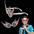 Totally 80's Costume Sunglasses - 1980's style sunglasses made of plastic with a totally awesome design.