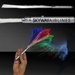 """14"""" Fiber Optic Light Up Glow LED Wand with Silver Handle"""