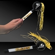 "9"" Gold & Black Tinsel Maraca - 9"" Gold and black tinsel maraca."