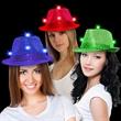 Sequin LED Light Up Fedora-Imprintable Bands Available - Sequin LED Light Up fedora with an imprinted black or white elastic hat band.