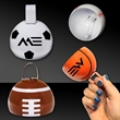 "Sports Cowbell - 3 1/2"" metal cowbell with sports themed shapes"