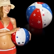 "Inflatable Patriotic Beach Ball - Patriotic 16"" inflatable beach ball, blank."