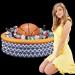Inflatable Basketball Fan Cooler - Inflatable basketball fan cooler, blank.