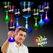 10 oz. Light Up MultiColor Glow LED Wine Glass - 10 oz light-up multicolor Glow LED bar wine drinking glass with frosted base.