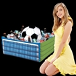 Inflatable Soccer Fan Cooler - Inflatable soccer themed ice/drink cooler.