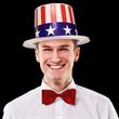 Patriotic Top Hat - Patriotic top hat, blank.