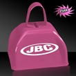 "3"" Metal Cowbell - Pink - 3"" pink colored metal cowbell"