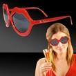 Red Lip Costume Sunglasses - Red lip shaped plastic sunglasses .
