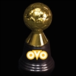 "Soccer Award Statue - 4 3/4"" tall gold plastic soccer award statue."