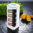 """Spice Rack - 10.687"""" x 4.687"""" x 4.875"""" spice rack with eight fresh-seal bottles"""
