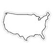 USA Shape Magnet
