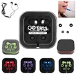 Earbuds with Microphone in Square Case - Earbuds with Microphone in Square Case