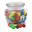 Peanut chocolates in a Large Glass Jar with Lid