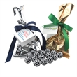 Chocolate Soccer Balls Favor/Mug Stuffer Bags with Ribbon