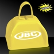 "3"" Metal Cowbell - Yellow - 3"" yellow colored metal cowbell."