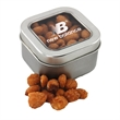 Tin with Window Lid and Honey Roasted Peanuts