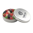 Round Metal Tin with Lid and Jelly Beans