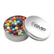 Large Round Metal Tin with Lid and Sixlets