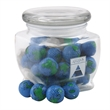 Chocolate Globes in a Large Glass Jar with Lid