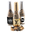 """8"""" Champaign Bottle with Trail Mix - 8"""" Glass Champagne Bottle with Trail Mix"""