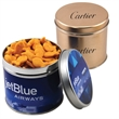 "Goldfish Crackers in a 3.5"" Round Metal Tin with Lid"