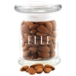 Almonds in a Round Glass Jar with Lid