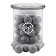 Chocolate Golf Balls in a Large Round Glass Jar with Lid