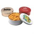 """Goldfish Crackers in a Round Tin with Lid-7.25"""" D"""