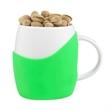 14 oz White Ceramic Rotunda Mug w/ Silicone Grip - 14 oz White Ceramic Rotunda Mug w/ Silicone Grip