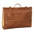 GENUINE LEATHER TRI-FOLD GARMENT BAG - Full Grain cowhide leather, handmade in Colombia. Tri-fold garment bag with two top buckle closures.