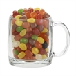 13 oz Nordic Glass Mug w/Gourmet Jelly Beans - 12 oz glass mug with handle and your choice of Assorted Jelly Beans.