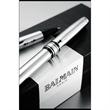 Balmain (R) Ariel Pen Set - Pen set, includes brass roller ball and twist action ballpoint pens.
