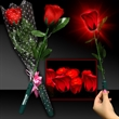 Light Up Red Silk Rose Glow Flower with Red LED