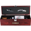 Executive Napa Wine Case - Cherry wood wine case, includes stopper and bottle opener with foil seal cutter.