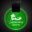 "Jade Green 2 1/2"" Light-Up LED Glow Medallion - 2.5"" medallion with jade green light-up LED."