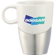 Double Dipper Ceramic mug with Stainless Base - Double Dipper Ceramic mug with Stainless Base