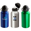 "16.9 oz. Domed Flask - 3"" x 7.5"" x 3"" domed flask with 16.9 oz. capacity; includes dome-covered pull-top lid."