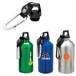 Viola 16.9 oz. Flask with Carabiner - 16.9 oz. flask; includes carabiner, web strap, and a compass on lid.