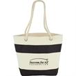 12 oz. Cotton Canvas Capri Stripes Shopper Tote - 12 oz. Cotton Canvas Capri Stripes Shopper Tote
