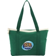 Color Pop Zippered Cotton Boat Tote