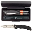 "AA LED Mini Mag-Lite with Buck Bantam BBW Knife - 6 1/2"" MagLite flashlight, two AA batteries and a pocket knife with a 2 3/4"" blade and 3 3/4"" handle in a presentation box"