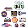 Express Vibraprint Emblems with Clear Poly Dome - Express Vibraprint custom cut Emblem with poly dome.