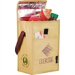 Laminated Non-Woven Brown Baggin' It Lunch Bag - Laminated Non-Woven Brown Baggin' It Lunch Bag