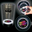Happy new Year 16 Oz Bottom Lit Light Up Cup - Unique 16 oz clear plastic bottom lit pint glass that features a fun New Year's Eve Design illuminated buy built in LEDs