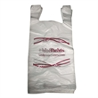 High Density Plain T-Shirt Bags with T-Handle - Plain polyethylene high density t-shirt bags with t-handle.