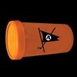 """Orange 3"""" Super Air Blaster w/ Necklace - 3"""" orange air horn with necklace"""