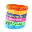 Add your design on any of our wristbands, sold for less than a dollar.