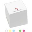 """Short Run 2 3/4"""" Spot Color Custom Post-it(R) Full Cube - 2 3/4"""" custom 650-sheet cube. Short Run 1 color."""